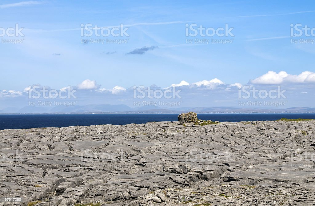 The Burren at Black Head royalty-free stock photo