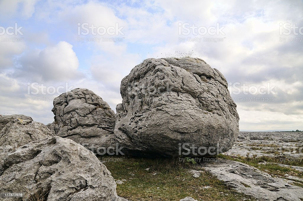 The Burren boulders royalty-free stock photo