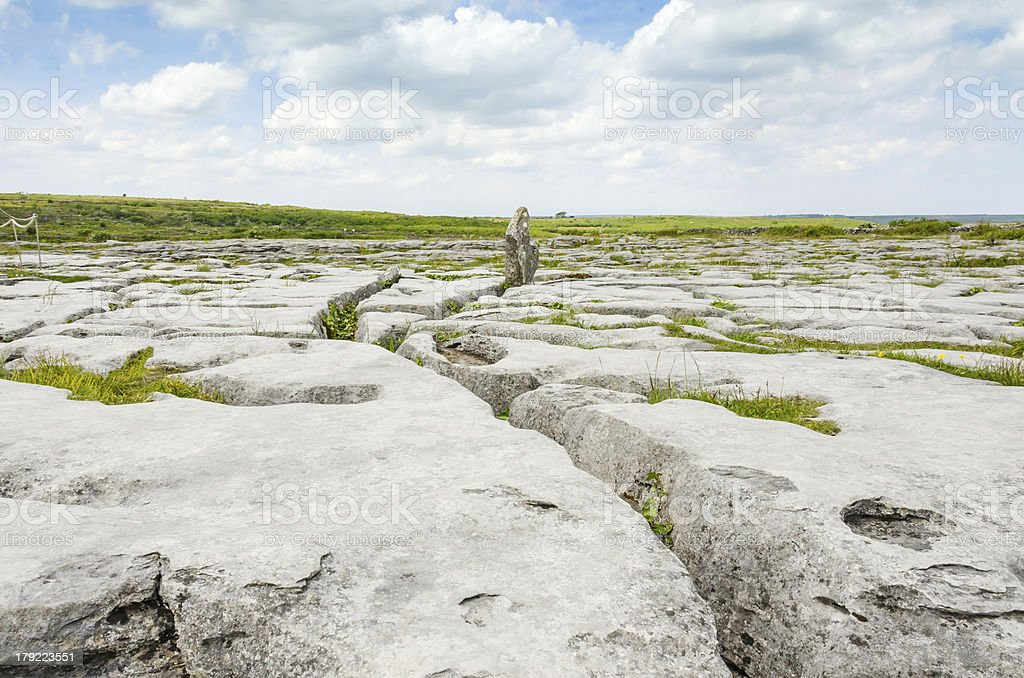 The Burren National Park limestone landscape royalty-free stock photo