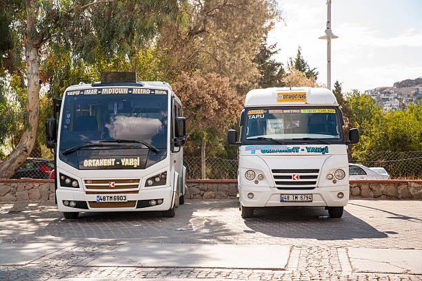 The bus station, a small turkish bus, Dolmus. – zdjęcie