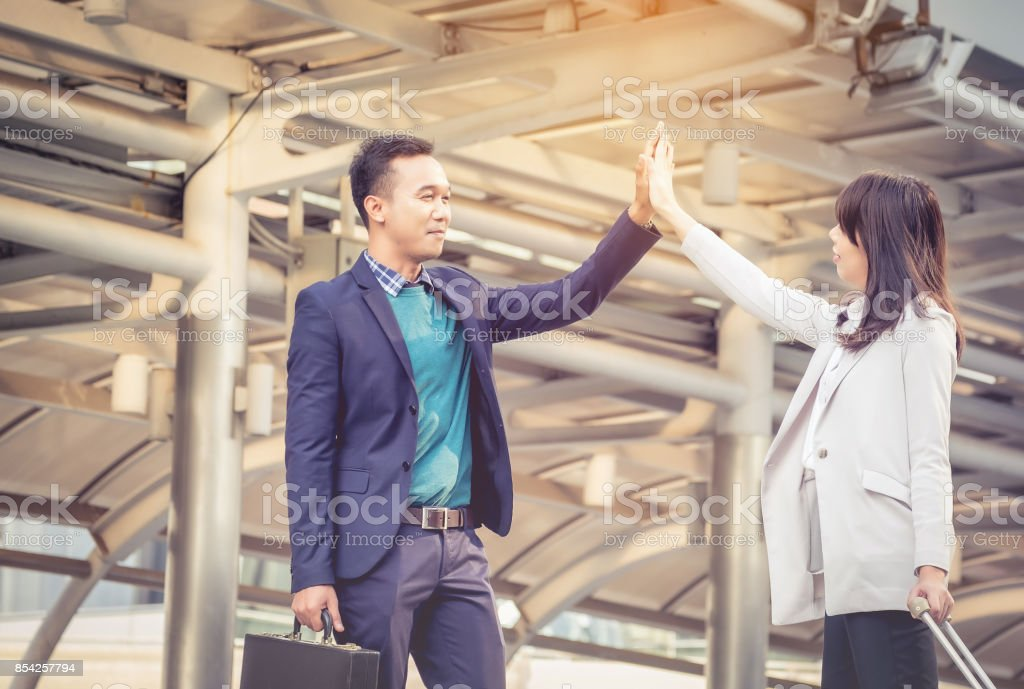 The Business Confederate hands together. The teamwork and unity is the only one completion. stock photo