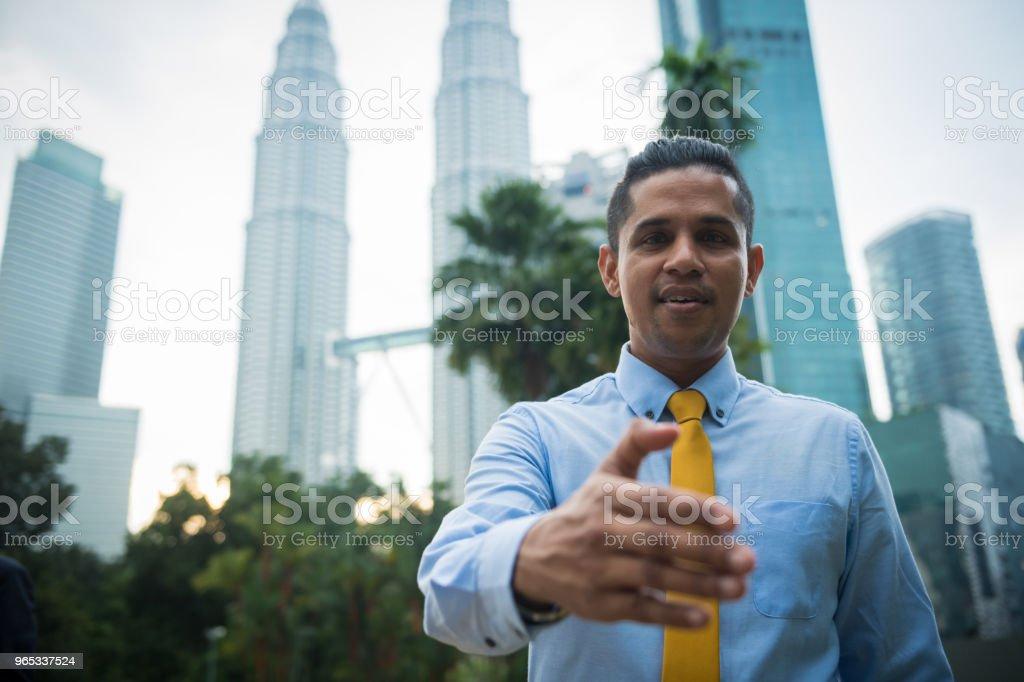 The business handshake zbiór zdjęć royalty-free