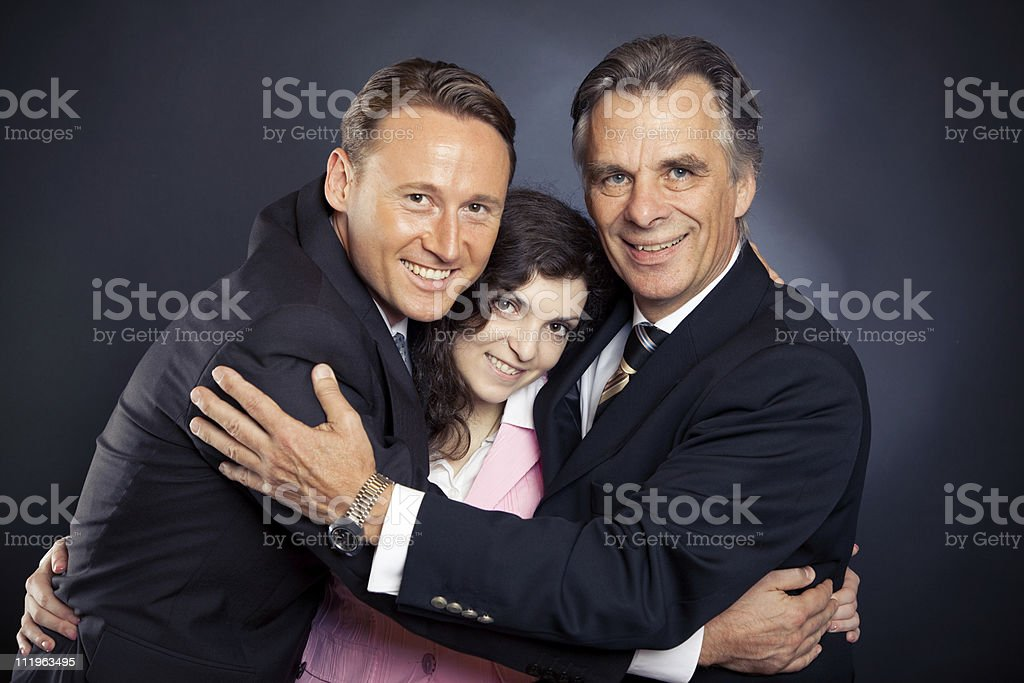the business hug royalty-free stock photo