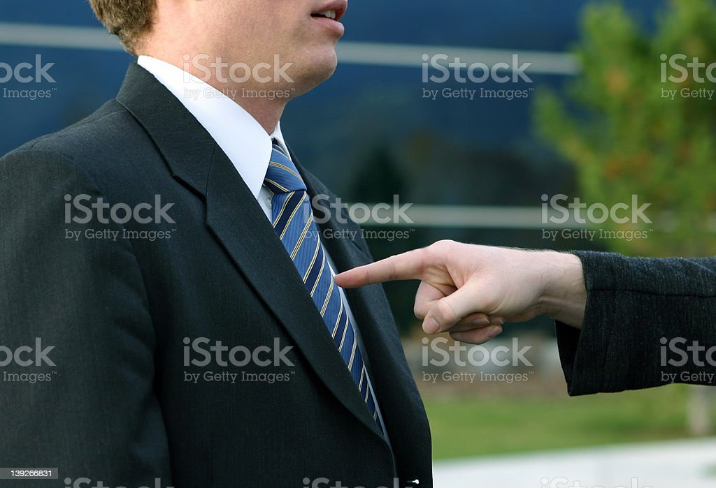 The business man gets it royalty-free stock photo