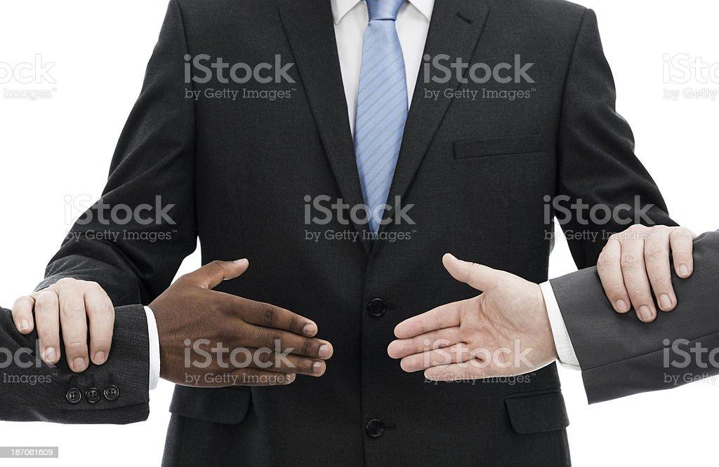 The business mediator stock photo