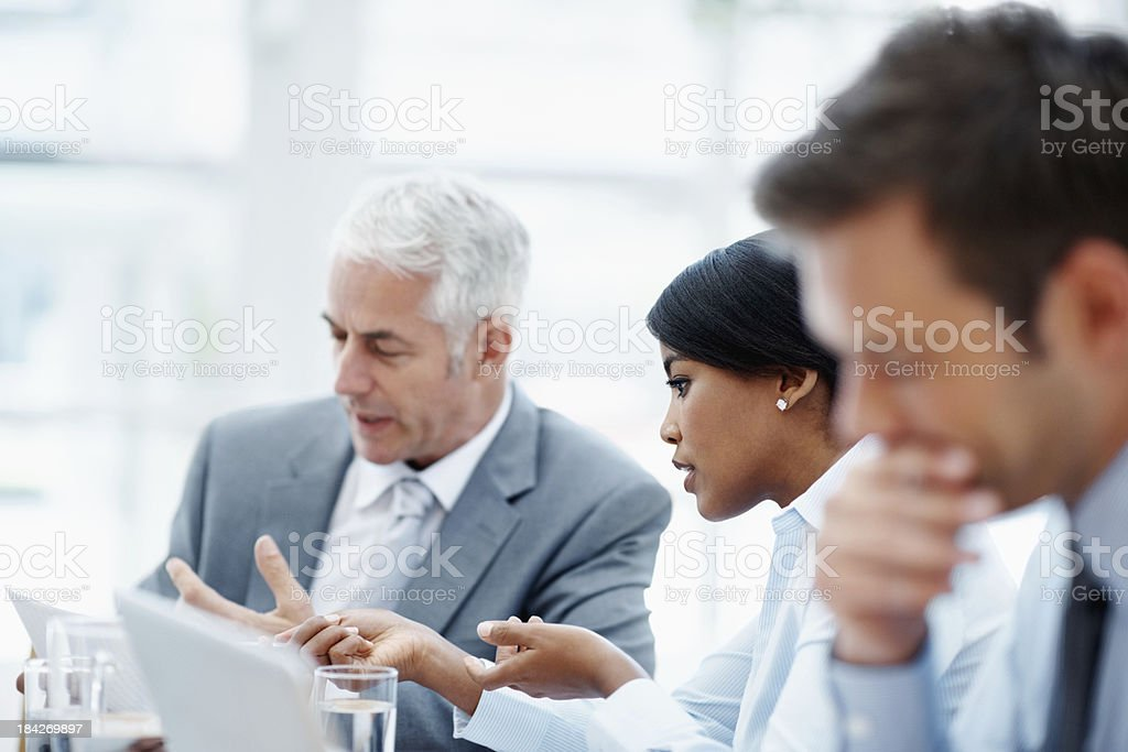 The business strategy royalty-free stock photo