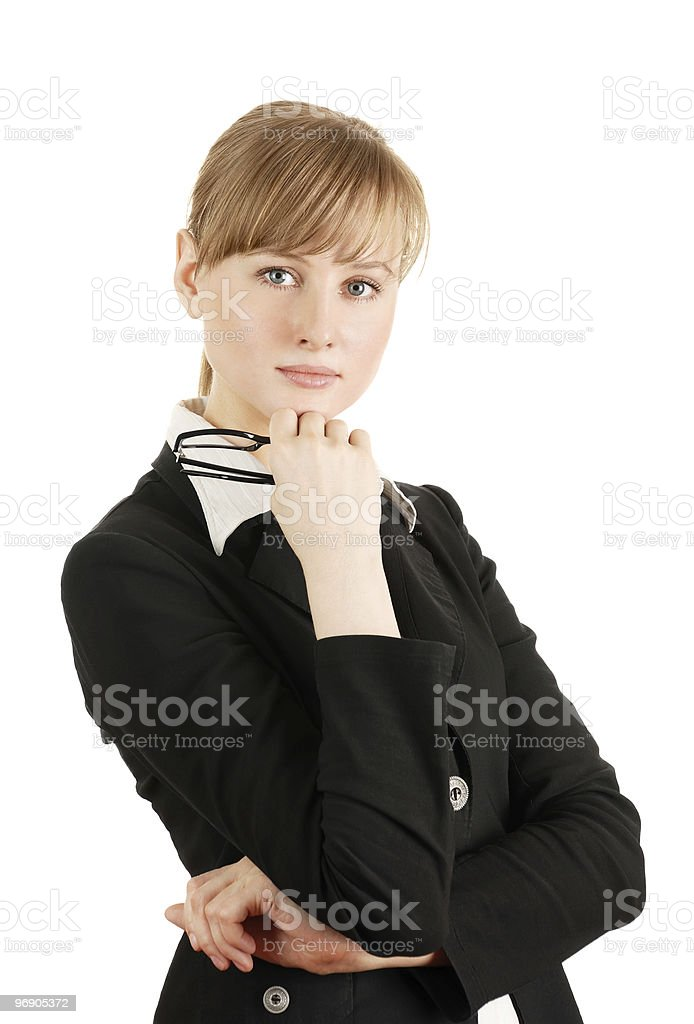 The business woman royalty-free stock photo