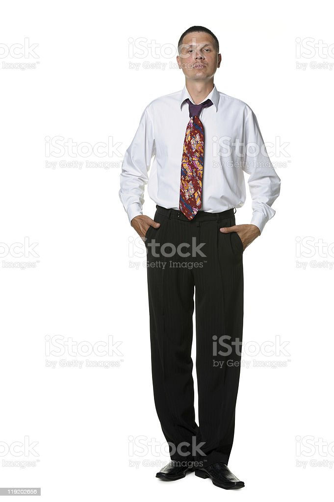 The businessman in a shirt and  tie royalty-free stock photo