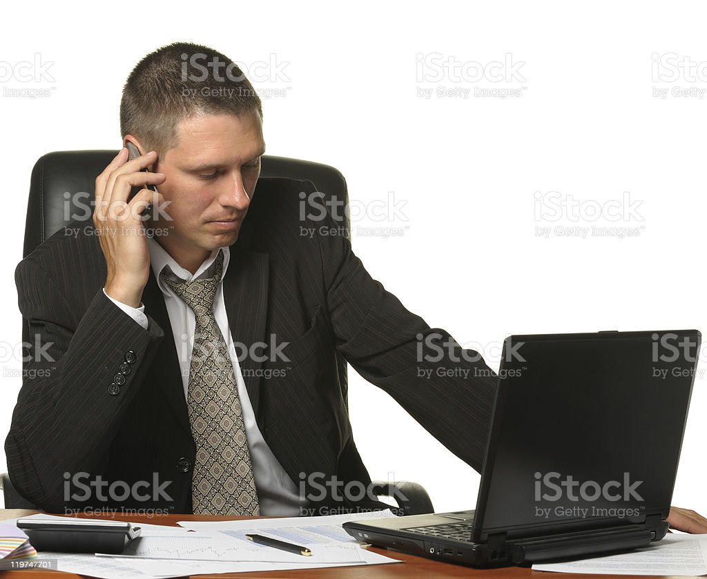 The businessman on  workplace royalty-free stock photo