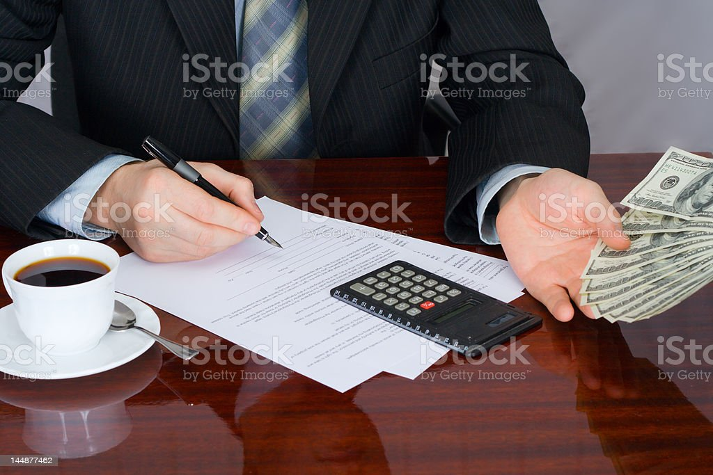 The businessman royalty-free stock photo