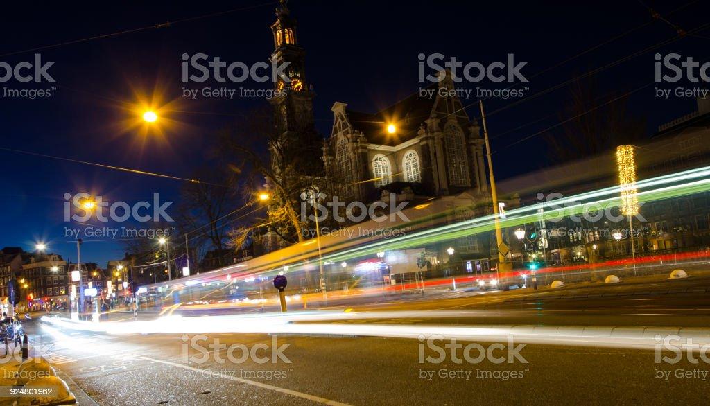 De drukke straat Amsterdam foto
