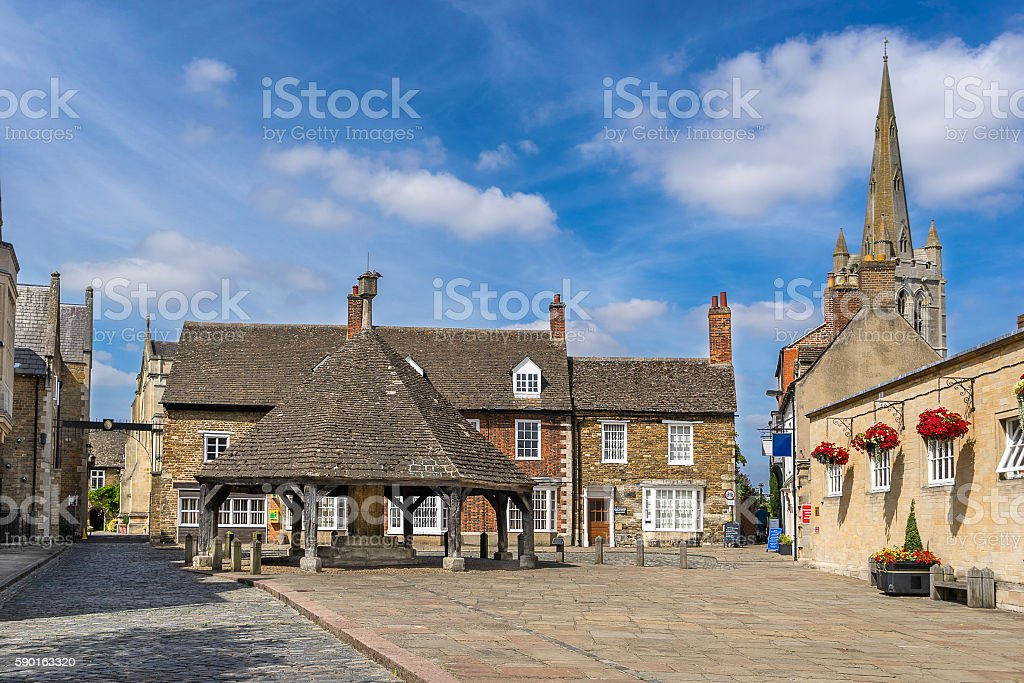 The Buttercross in Oakham in Rutland stock photo
