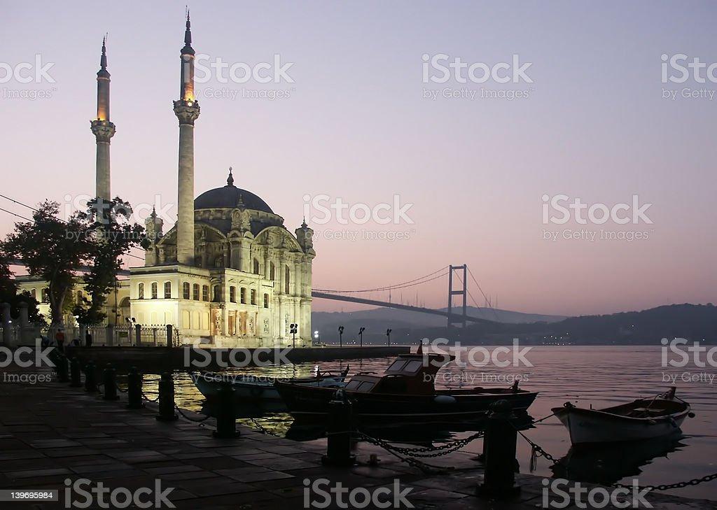 The Buyuk Mecidiye Mosque royalty-free stock photo