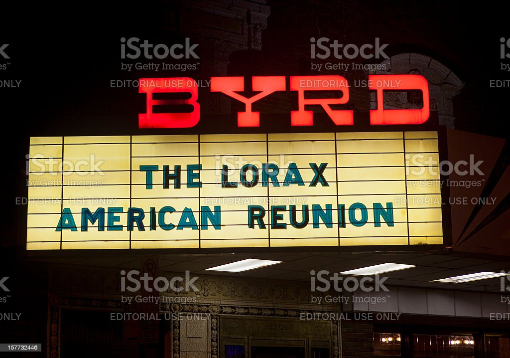 The Byrd Theater In Richmond, Virginia stock photo