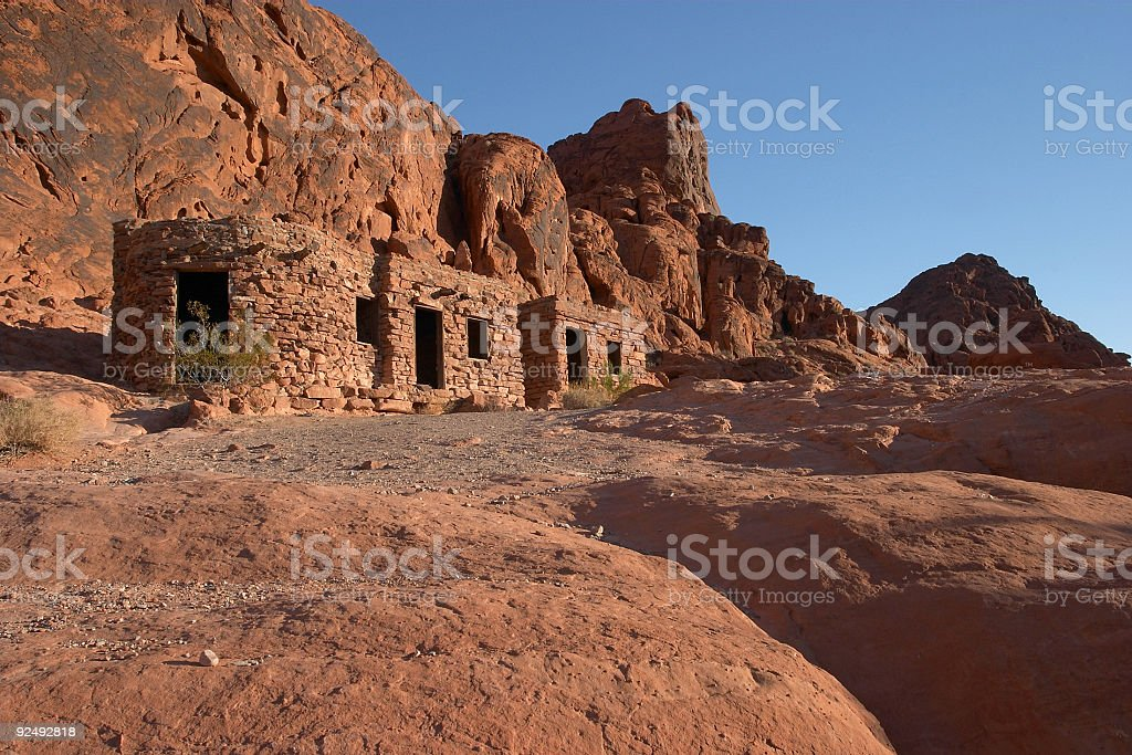 The Cabins Valley of Fire Landscape royalty-free stock photo