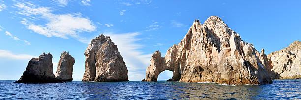 El Arco De Cabo San Lucas Panorama Mexico Harbor stock photo