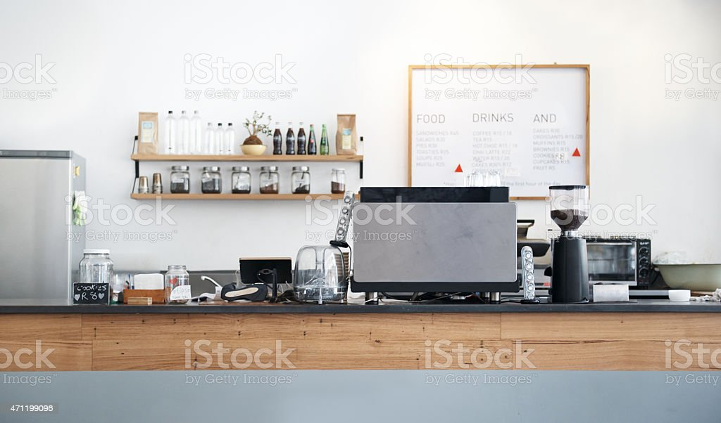 The cafe that feels like you're coming home stock photo