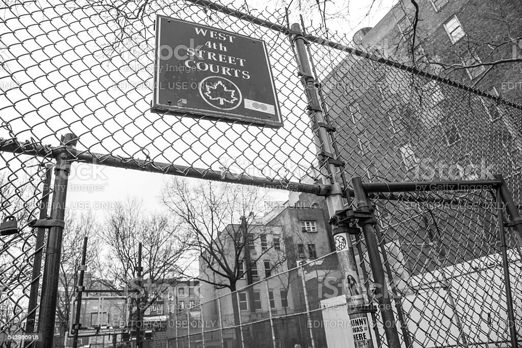 The Cage, West 4th Street Courts stock photo