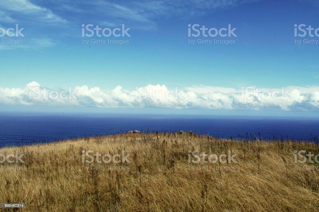 The Caldera Of Rano Kau On Easter Island Chile South America Stock