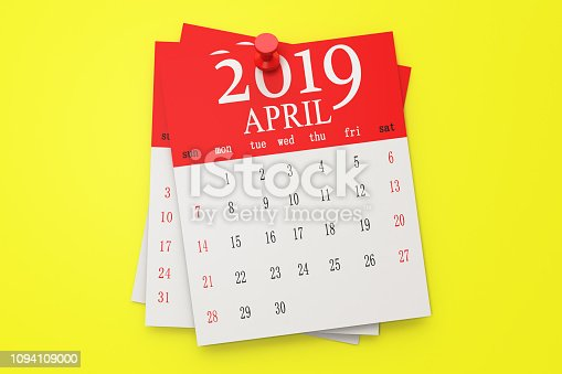 1124594277istockphoto The Calendar on the yellow background 1094109000