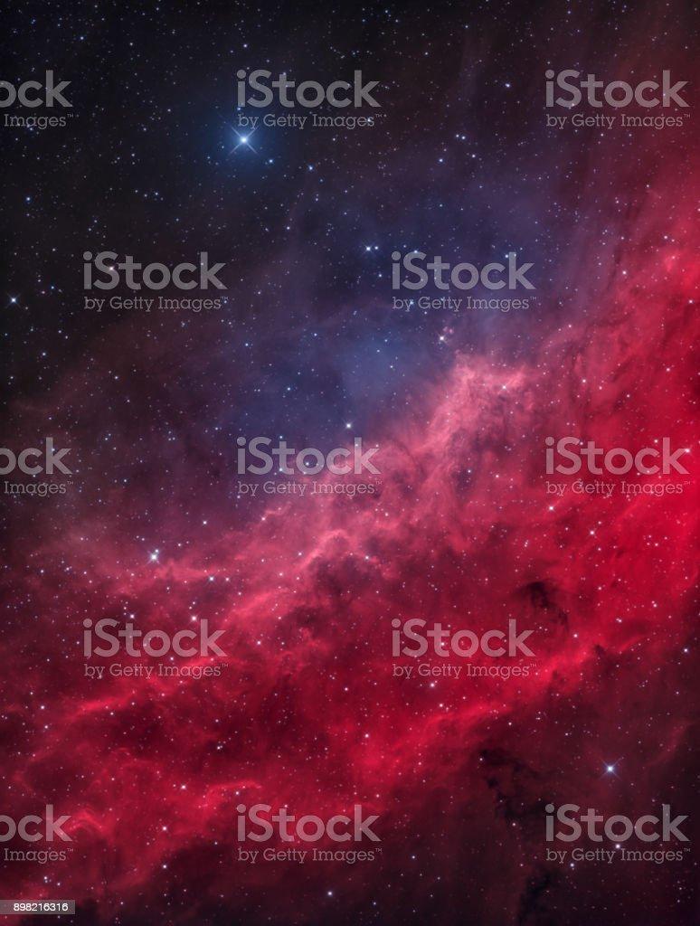La nébuleuse de la Californie dans la Constellation de Persée, avec la Menkib Star lumineux - Photo de Abstrait libre de droits