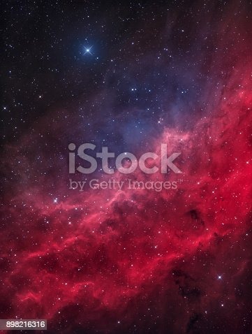 istock The California Nebula in the Constellation of Perseus with the bright Star Menkib 898216316