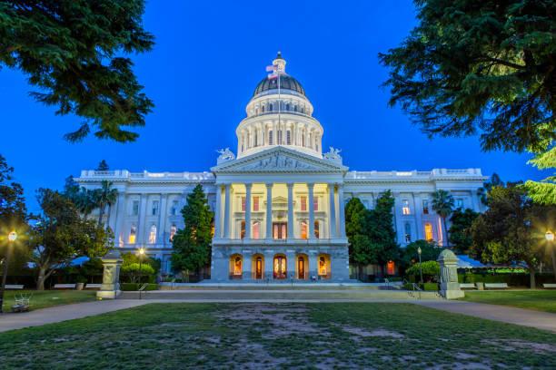 The California State Capitol in Sacramento stock photo