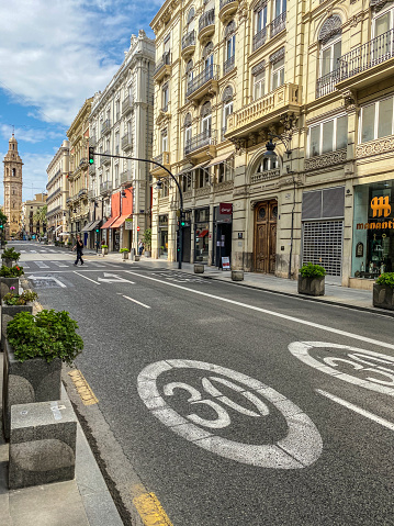 The Calle de la Paz in downtown Valencia, Spain