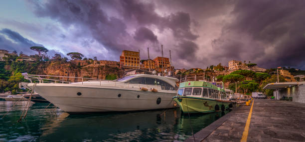 The Calm Before The Storm In Sorrento stock photo