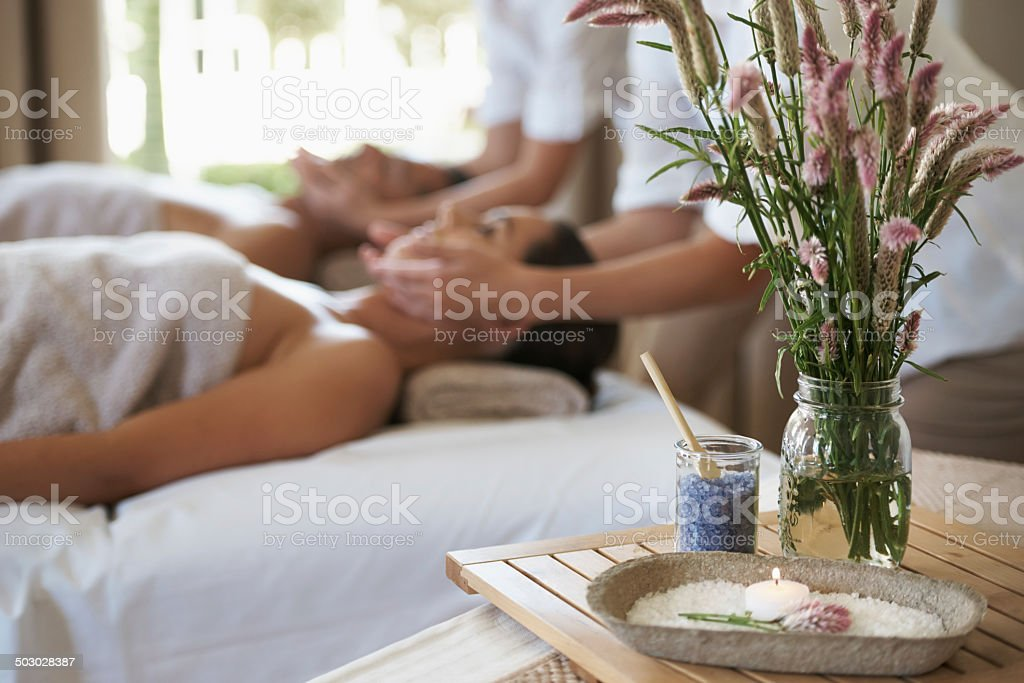 The calming effects of crystals stock photo