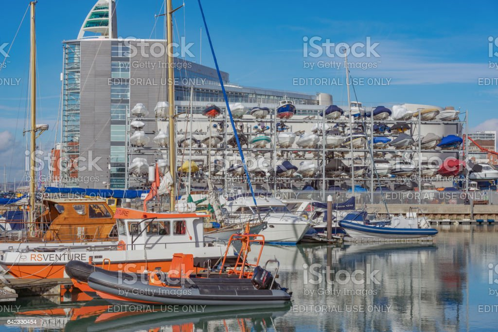 The Camber in Portsmouth, UK stock photo