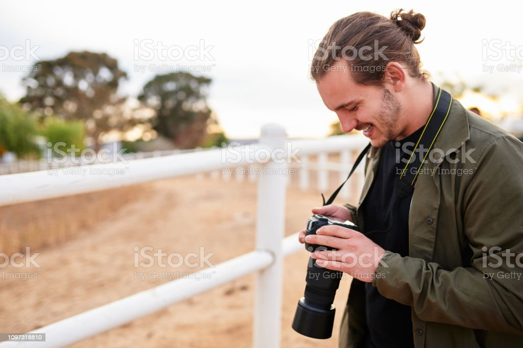 The camera is a tourist's best friend stock photo