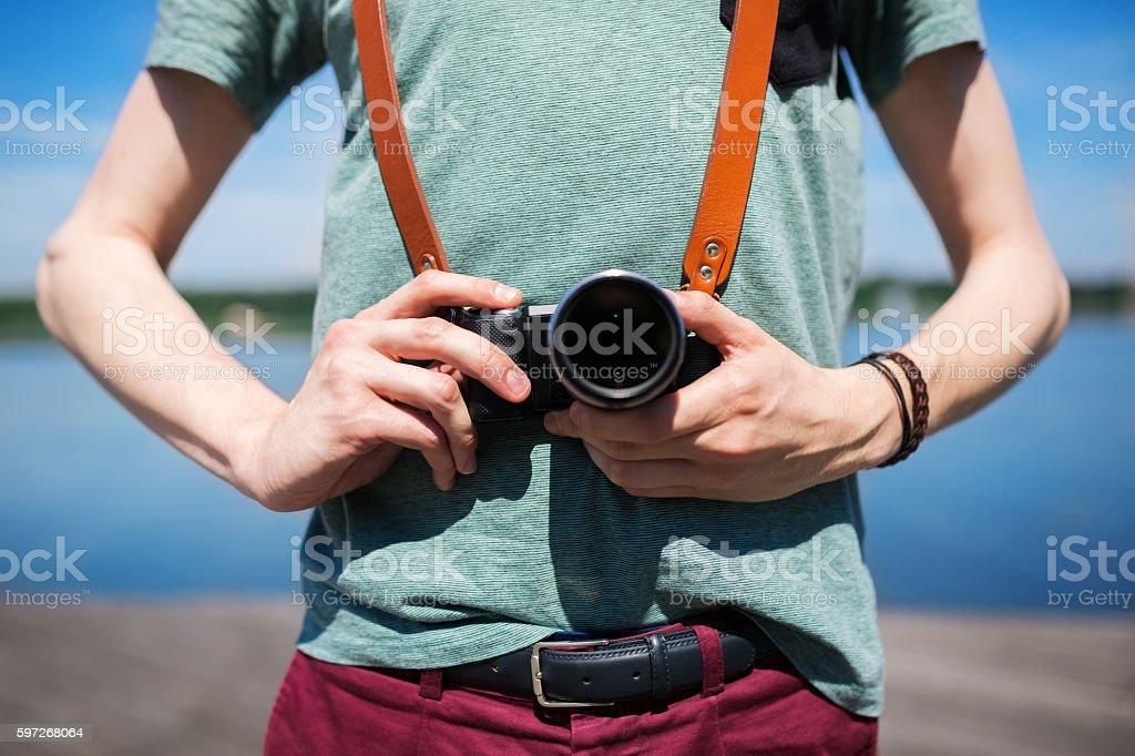 The camera royalty-free stock photo