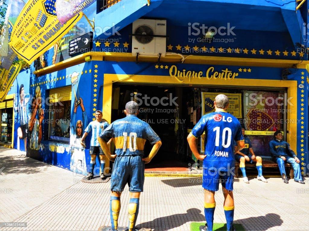 La rue Caminito du quartier de La Boca dans la ville de Buenos Aires. - Photo de Affaires libre de droits