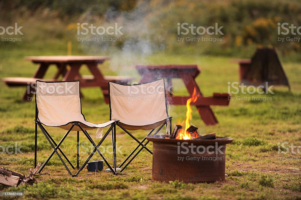 The Camp Site royalty-free stock photo