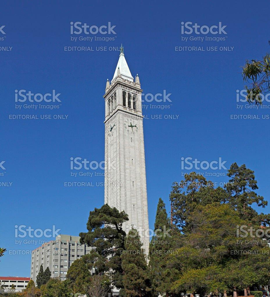 The Campanile At The University of California, Berkeley stock photo