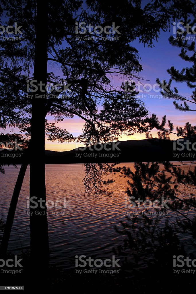 The Canadian Landscape at Sunset stock photo