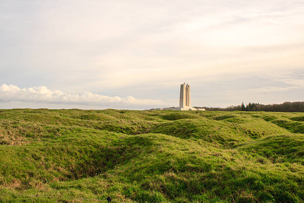 The Canadian National Vimy Ridge Memorial in France stock photo