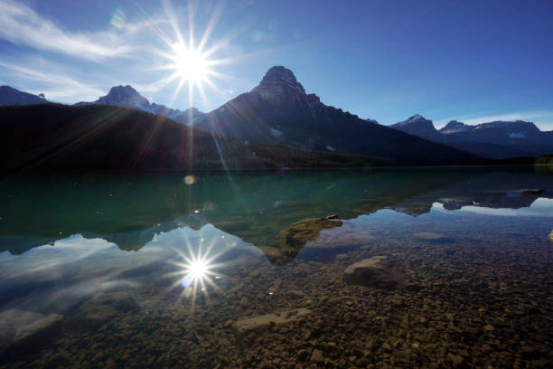 The Canadian Rockies stock photo