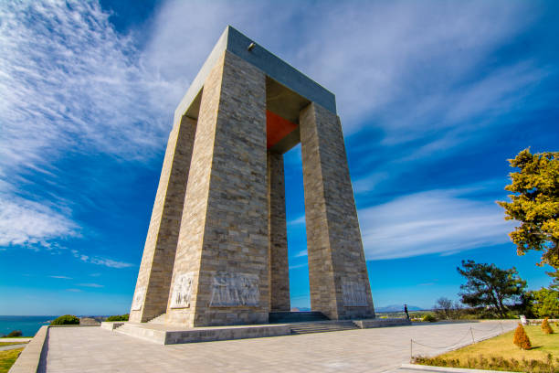 The Canakkale Martyrs Memorial ( Abide ), Gallipoli stock photo