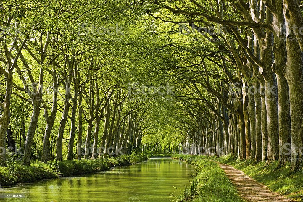 The Canal du Midi in Toulouse, Southern France royalty-free stock photo