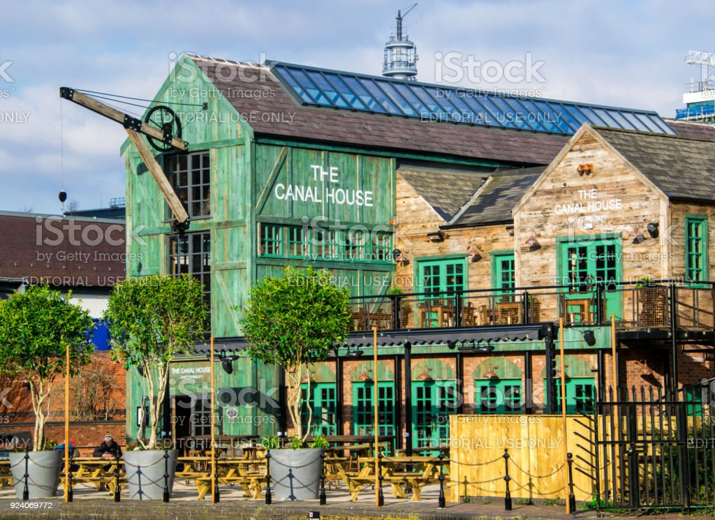 The Canal House, Birmingham Canals city centre stock photo