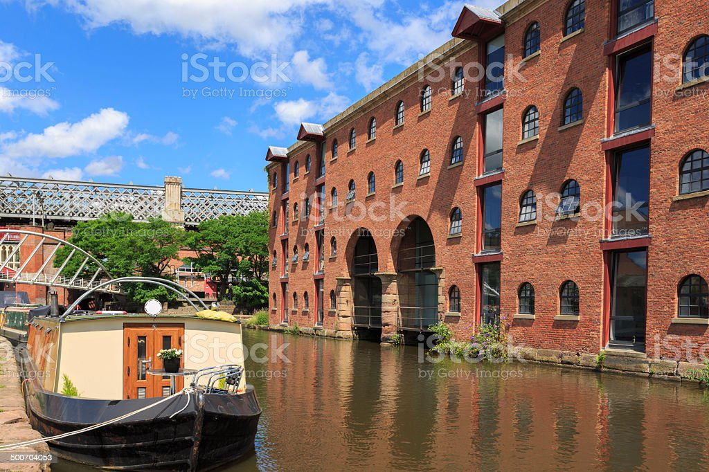 The canal in Castlefield, Manchester. royalty-free stock photo
