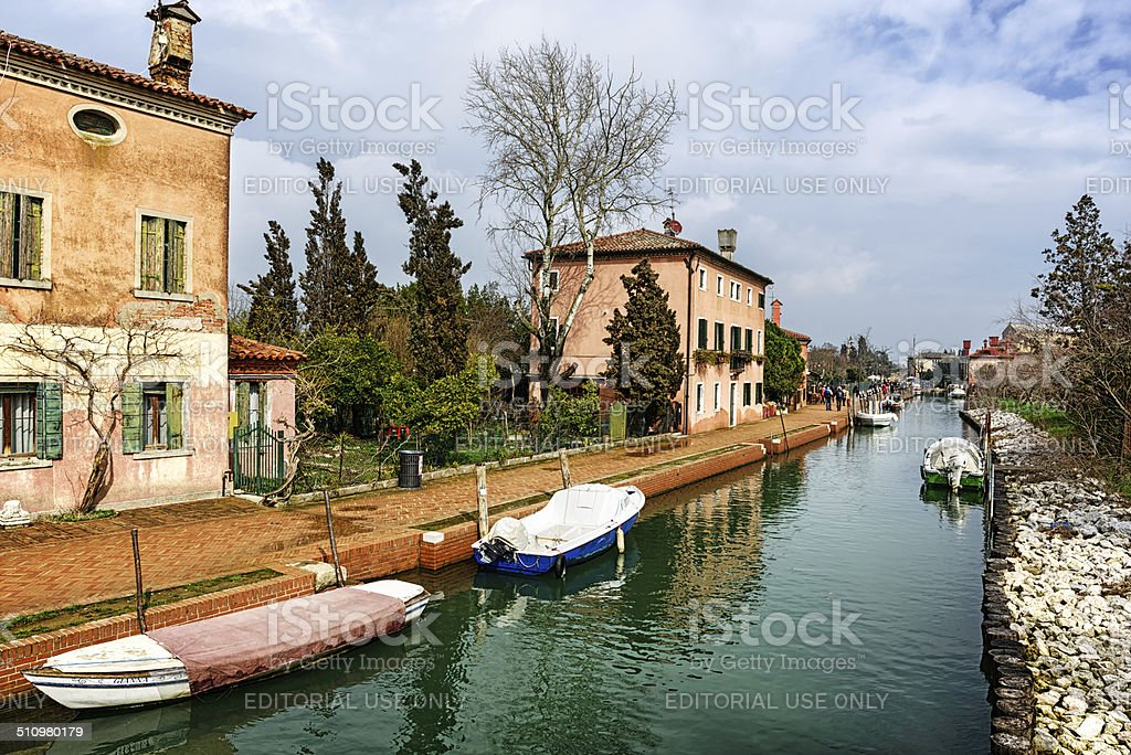 The Canal, island of Torcello, Venice stock photo