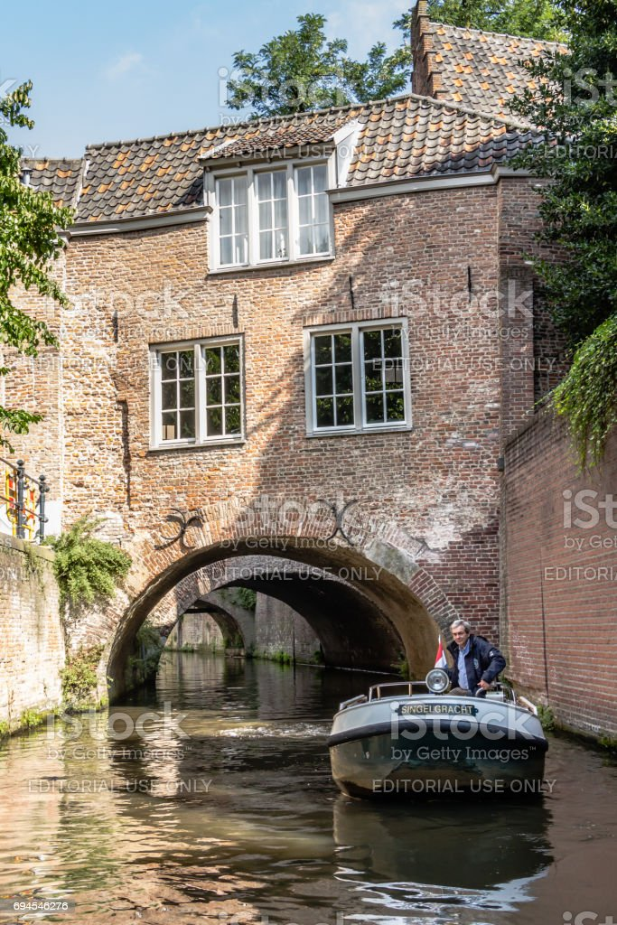 de grachten van de-Hertogebosch in Nederland. foto