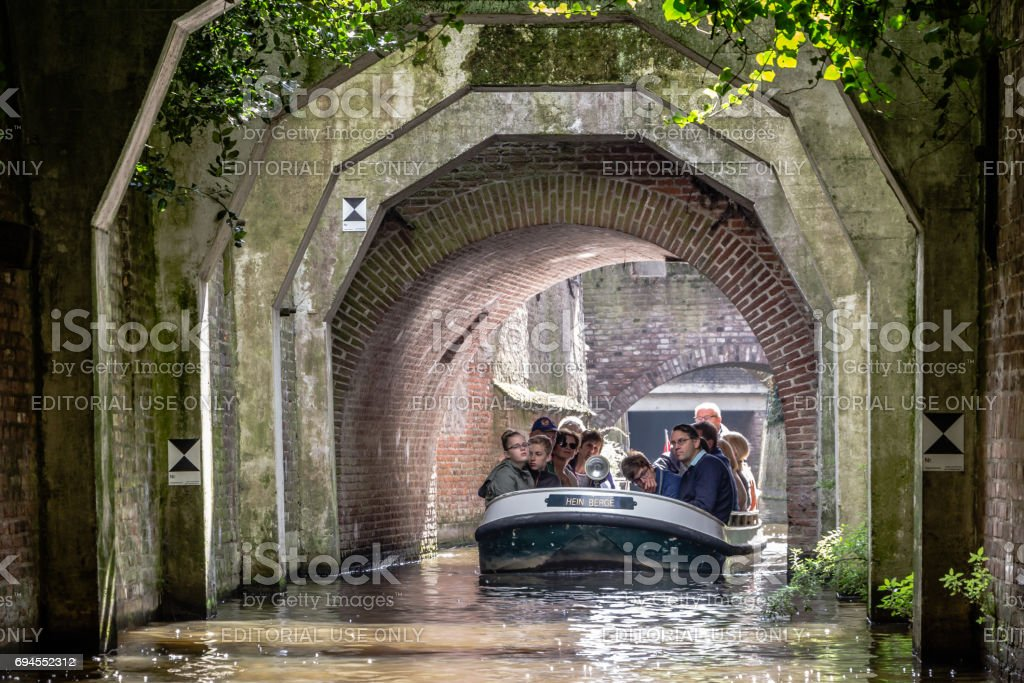 the canals of 's-Hertogebosch in the Netherlands. stock photo