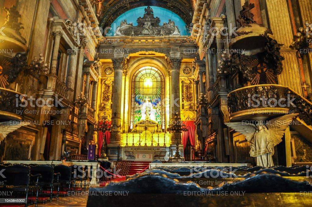 The Candelária Church in Rio stock photo
