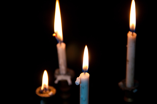 the candle and the candlestick