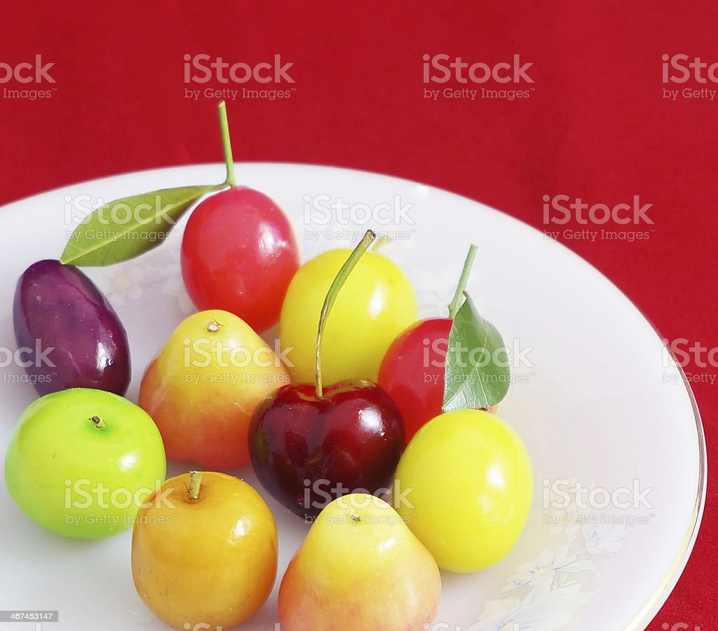 The candy coating is thai dessert royalty-free stock photo