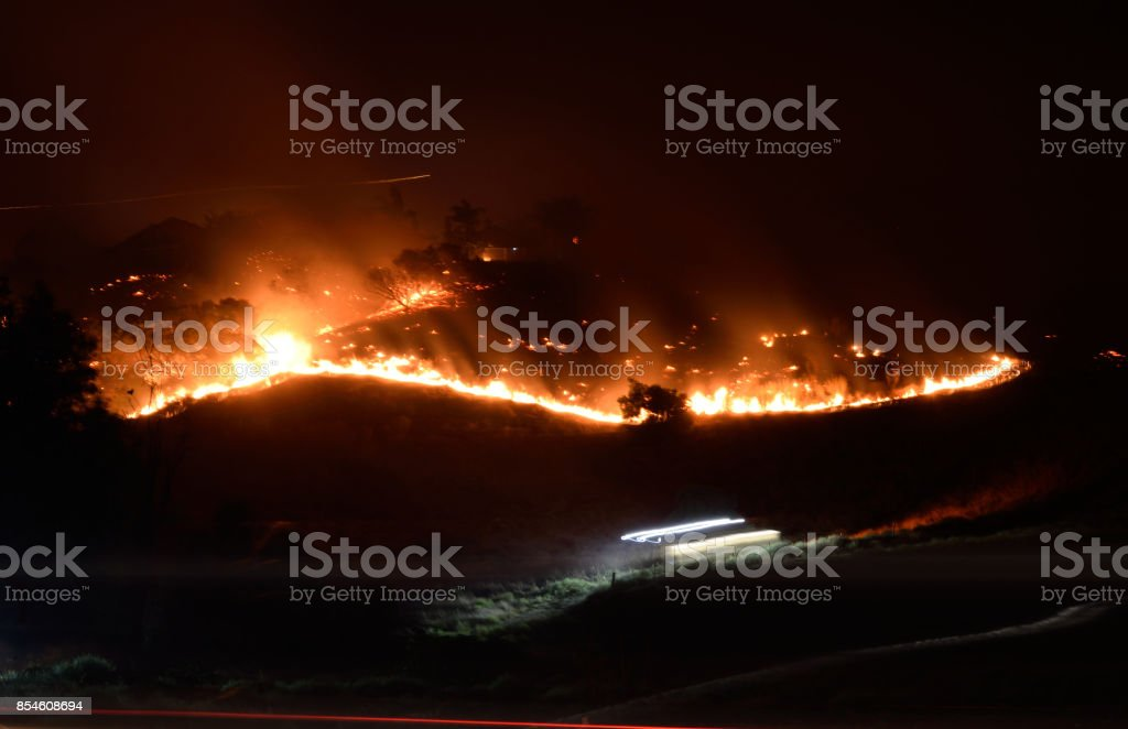 The Canyon Fire in California stock photo